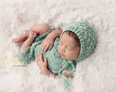Newborn Short Overalls, Photo Prop, Mint, Photo Prop