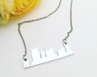 Nashville Skyline Necklace - Personalized Necklace - City Skyline Jewelry - Cityscape Jewelry - Unique Jewelry - Tennessee Jewelry