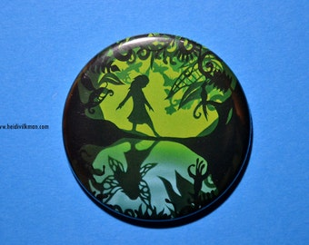 Fairytale Fridge Magnet - Fairy Accessory - Round Magnet - Giftware - Transformation - Enchanted Forest series