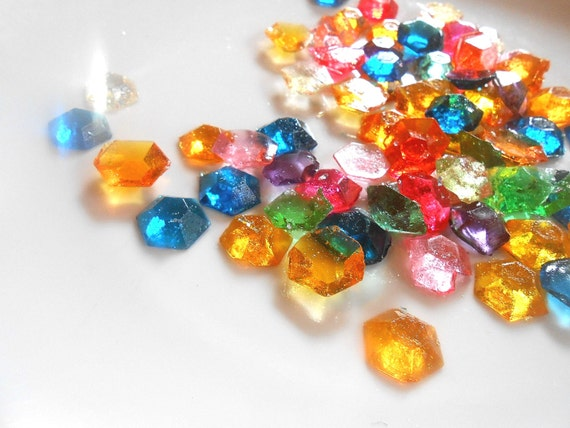 MULTI COLOR Candy Gems, Sugar Gems, Primary Colors, Pastels, Pastel Candy, No Instamalt, No GMO, Cupcake Toppers, Cake Toppers, Multi Colors