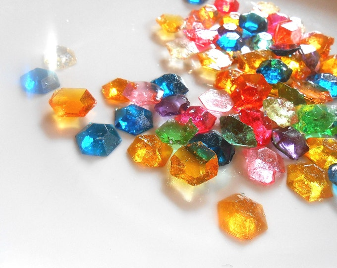 MULTI COLOR Candy Gems, Primary Colors, Pastels, Pastel Candy, No GMO, Cupcake Toppers, Cake Toppers, Multi Colors