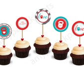 CUSTOM Printable Crossfit Cupcake Toppers - amy patrick prints (you choose font and colors)
