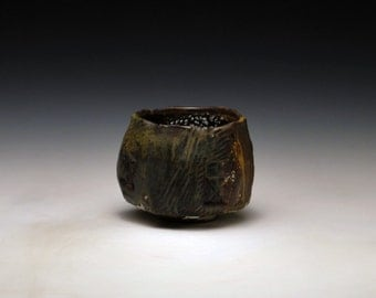 "Handbuilt Stoneware Teabowl "" Star-Crossed Steeple"""