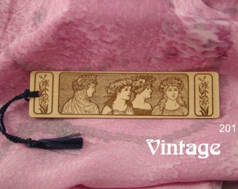Vintage Style Bookmarks of Solid Wood with Free Shipping.