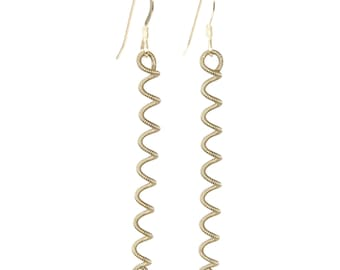 Unwound Silver Coil Guitar String Earrings Gift for Musician or Music lover