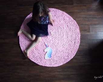 Unicorn Nursery Rug in Lavender