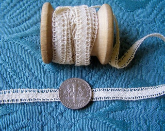 1900 Antique Vintage German Trim Renaissance Braid Flax linen Tape For Making Laces
