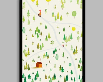 Into the Woods Poster (30cm x 40cm)