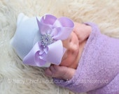 Hospital newborn hat Newborn baby girl hat with bow Newborn Hat lavender bow Coming home outfit Baby Girl Hospital Hat Newborn Girl Hat