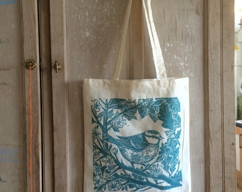 Tote bag- Hedgerow design by Lou Tonkin