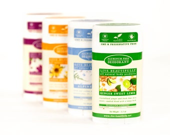 Natural Deodorant Variety Pack - Aluminum Free Deodorant - Feminine and Masculine - For Men and Women - Nautral Body