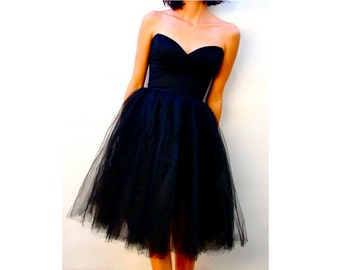 Simple tulle dress tutu skirt corset Custom Made FREE SHIPPING