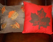 Set of Throw Pillow Covers for Fall Decorating
