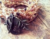 Robins Nest: Versatile crocheted necklace / bracelet / belt / headband