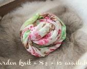 SALE newborn photography prop, garden knit flower stretch wrap, photo prop layering, photography prop,newborn photo wrap,baby shower gift