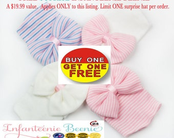 newborn girl hat Baby Girl Hat Baby's 1st Keepsake New Baby Hats Newborn Hospital Hat Bow Baby Girl clothes infanteenie beanie