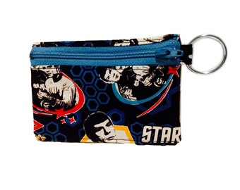 Star Trek Fabric TOS coin purse 5 inch zipper wallet with keyring