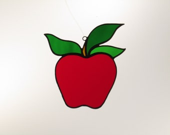 Stained Glass Apple Suncatcher - Price Includes Shipping