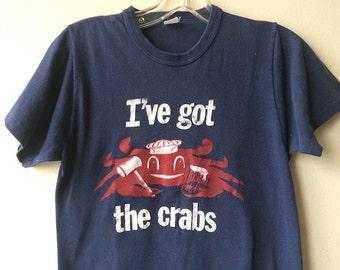 Vintage Crabs Navy Tee