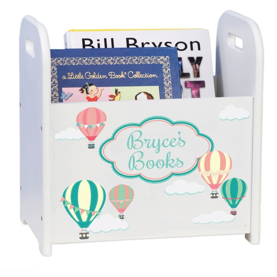 Hot air balloon nursery decor book holder magazine rack for Balloon decoration book