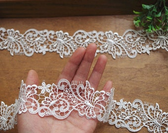 ivory lace trim, crochet lace trimming