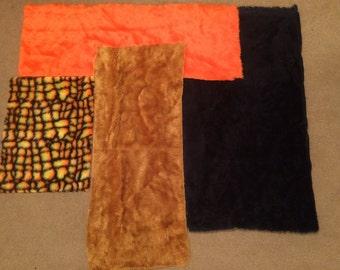 Pattern and Plain Mixed Fun Fur Destash!