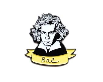 Bae Beethoven pun enamel lapel pin