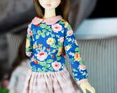 MSD Blue floral top