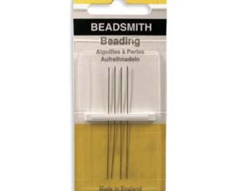 Beading Needles Size 10 John James English Beading Needles 4pk Made in England bead needle 10 long needle 10 longs