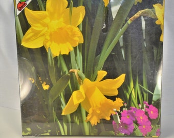 NEW Vintage 1987 Daffodils 550 PC Pretty Spring Flower Jigsaw Puzzle Applestreet