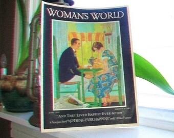 June 1932 Woman's World Magazine Vintage Art Deco Fashion