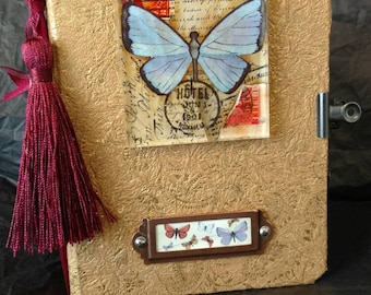Butterfly Journal - Hand  Made - Mixed Media