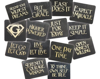 Recovery 12 Step Slogan Magnets