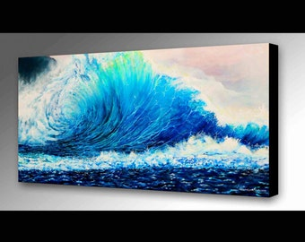 Wave Painting | Sea Art | Wave Canvas Print | Hawaiian Decor | Water Wall Art | Surf Decor | Beach Decor | Beach Art | Wave Art  | Waves