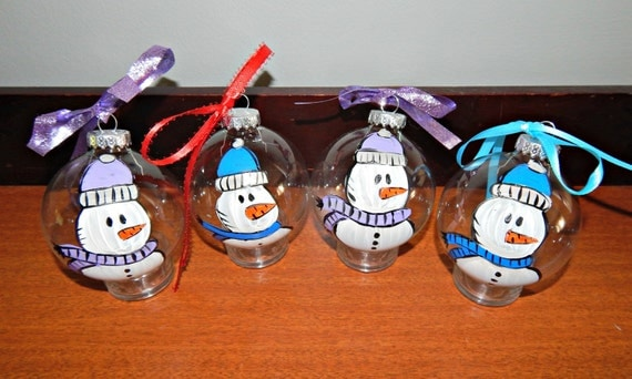 Hand Painted and Personalized Christmas Ornament