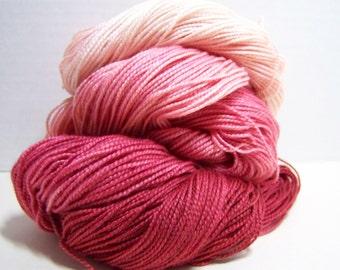 Superwash Merino, Silk, fingering weight 400 yards 100 g