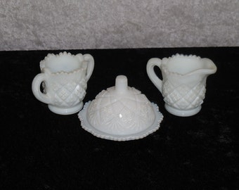 Thumbelina-Milk Glass by Westmoreland, Child's Pieces