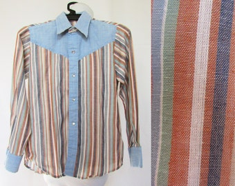 Boys Western Shirt Vintage 80s Billy the Kid 8