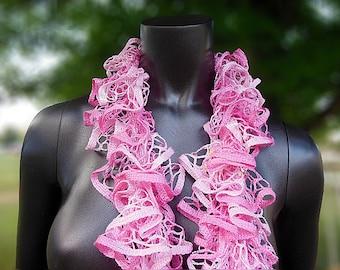 Pink Scarf, Handmade Scarf, Pretty In Pink, Knitted Scarf, Neck Scarf, Soft Scarf, Long Scarf, Wrap Scarf, Crochet Winter Scarf, Cute Scarf