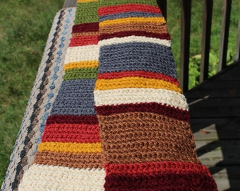 SUMMER SALE! 6 Foot Long Mini Handmade Doctor Who 4th Doctor scarf - All seasons