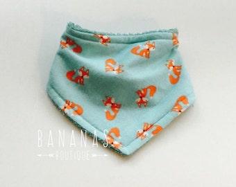 Baby Bib or Bandana Bib in Little Foxes