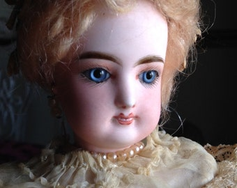 Stupendous OOAK Antique Gaultier Bride Doll
