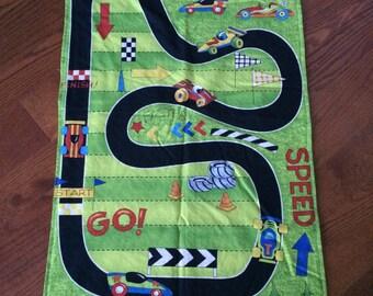 Ready to ship Minky Blanket Race Track