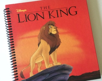 DISNEY LION KING Journal Notebook Spiral Bound -- Made from a loved child's storybook