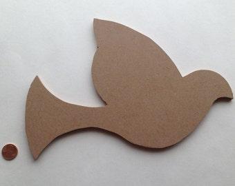 Mosaic Base Form Dove Bird Shape Decoupage Collage Stencil Paint