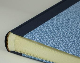 "Photo Album 24x30cm (10x12"") - Cover CHIYOGAMI Design ""Blue Waves"""