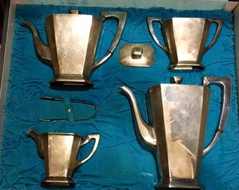 Vintage Sterling Silver Coffee Tea Set art deco style