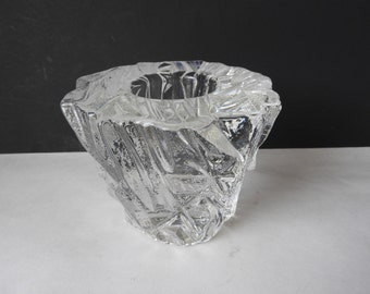 Orrefors Melting Ice or Icy Vase