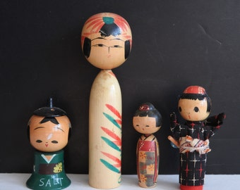Kokeshi Dolls- Instant Collection of Kokeshis- Creative- Japanese Dolls