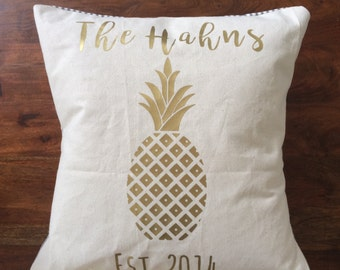 Custom Pineapple Pillow COVER